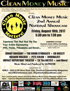 Clean Money Music National Showase